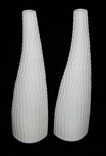 Pair of White Reptil Vases by Stig Lindberg