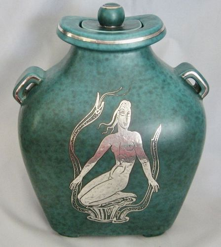 Large Argenta Urn with Mermaid