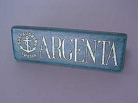 Rare Argenta Gustavsberg Advertising Stand