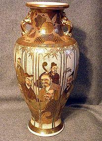 Huge Japanese Satsuma vase Hotoda Meiji Era