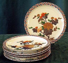 Lovely Japanese Arita set 6 plate Fukagawa