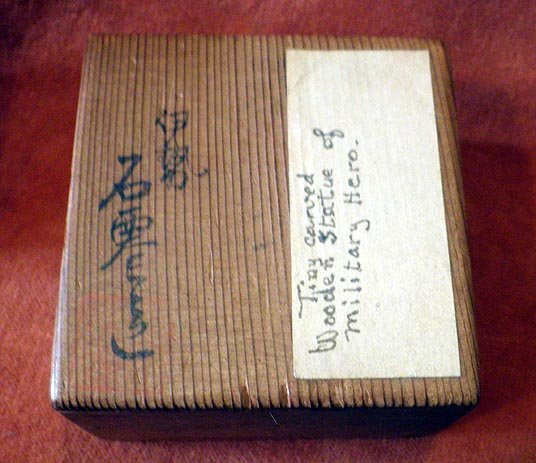 Japanese okimono tiny military samurai hero miniature