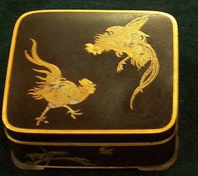 Japanese Komai Mix Metal box Meiji