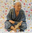 Old Japanese  okimono Hakata doll fine detail