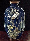Beautiful Japanese cloisonne with crane