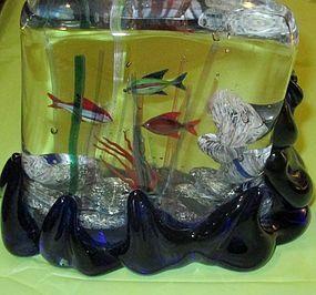 Italian Murano,Venetian glass aquarium Seguso Viro