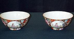 Beautiful Chinese HP bowl pair