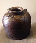 nice old Tanba aero Era Jar japanese