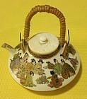 Japanese Satsuma miniature tea pot kinkozan yabumeizan style
