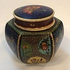 Japanese Totai cloisonné on satsuma tea caddy