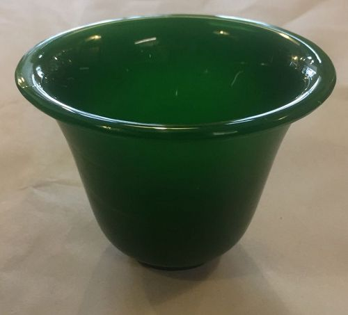 Chinese green color Peking glass cup