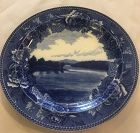 English Antique wedewood blue and white plate