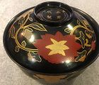 Vintage Japanese laquer bowl with singed