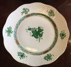 Beautiful Herend Chinese Bouquet Green set of 10 dinner plate 10.3/8