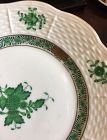 Beautiful Herend set of 12  Chinese Bouquet Green 6.4/8 in plate