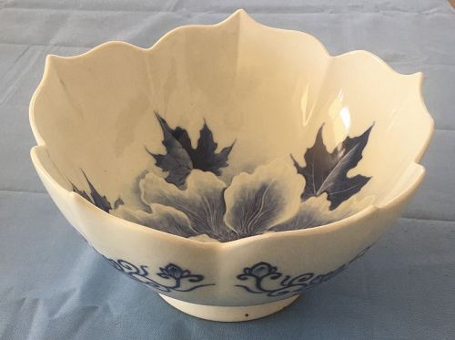 Japanese studio master Hirado flower bowl