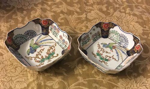 Japanese pair  ko Imari mukozuke dish