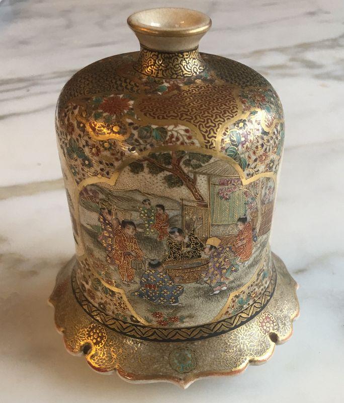 Master Japanese HO Satsuma vase Meiji Era