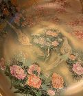 Large Japanese satsuma Hand painted golden bowl,