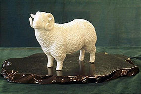 Very Fine Japanese studio sheep Hirado Style