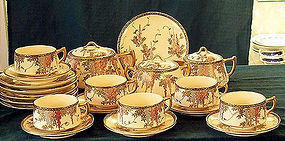 HP Japanese 24 pc Satsuma tea set wistaria