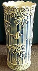 Nice Japanese Seto umbrela stand ,Bamboo & Sparrow