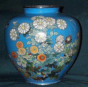 besutiful Japanese cloisonne enamel vase