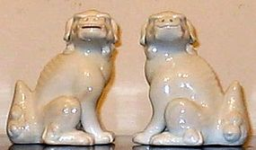 Very fine Japanese Hirado Shi shi dog pair