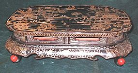 Japanese inlaid mother of peale stand 19th century