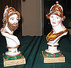 Nice copdemonte pair busts