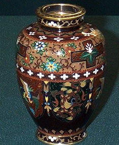Japanese cloisonne goldn age  mini Ando vase