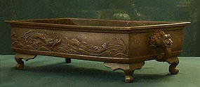 Nice Japanese Bronze dragon Basin