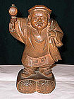 Nice Japanese wooden figure of god