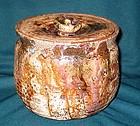 Fine Japanese Iga yaki water jar Mizusashi