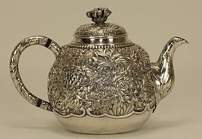Japanese Silver Millefleurs Teapot