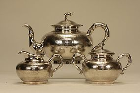 Chinese Silver Tea Set HUNGCHONG SHANGHAI Signed