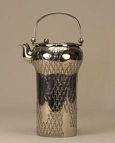 Japanese Silver Ewer Teapot