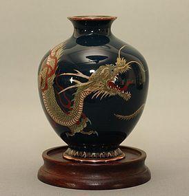 Japanese Cloisonne Dragon Vase Meiji