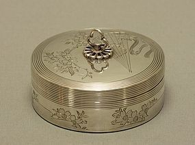 Japanese Sterling Silver Box by Toyokoki