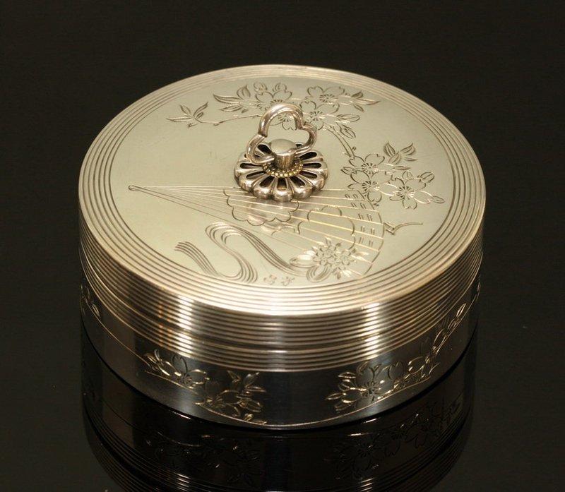 Japanese Sterling Silver Box by Toyokoki