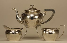 Chinese Silver Tea Set LAINCHANG Marked & Signed