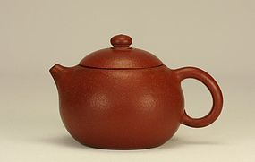 Chinese Yixing Red Ware Circular Shape Teapot