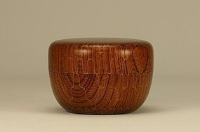 Japanese Wooden Tea Caddy NATSUME w Net Design