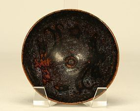 CHINESE JIZHOU POTTERY TEA BOWL w PHOENIXES