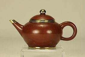 Super Chinese Yixing Pottery Teapot Marked w Seal