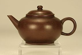 Small Chinese Yixing Teapot GONJU Signed