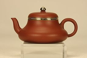 Superb Chinese Yixing Teapot Bell Shaped & Inscribed