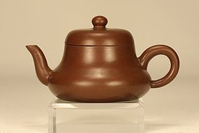 Superb Chinese Yixing Teapot Bell Shaped & Signed