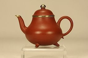 Superb Chinese Yixing Teapot MENGCHEN w Inscription