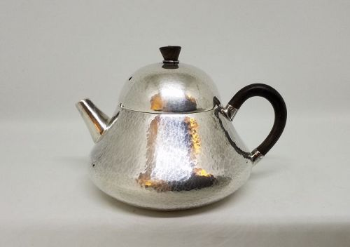 Japanese Silver Teapot w Bell Shaped